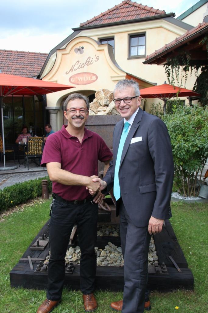 Restauranttester August Teufl und Fritz Semper
