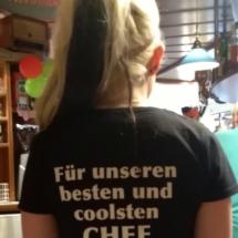 T-Shirts Sprüche zum 50er von Fritz Semper, Maria von hinten, Kellnerin, Nickis Restaurant, Gmünd