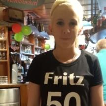 T-Shirts Sprüche zum 50er von Fritz Semper, Maria von vorne, Kellnerin, Nickis Restaurant, Gmünd